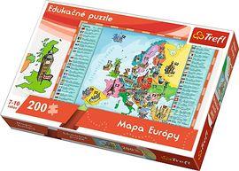 TREFL - Edukačné Puzzle Mapa Európy 200