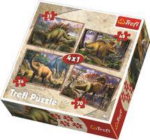 TREFL - Puzzle Dinosaury 4v1