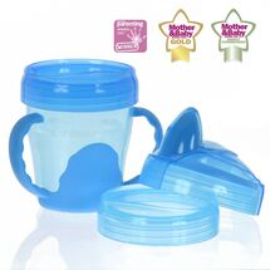 VITAL BABY - Detský výučbový 3 dielny hrnček 200 ml, modrý