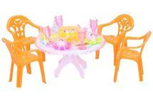 WIKY - Jedálenský stôl s doplnkami - žltá