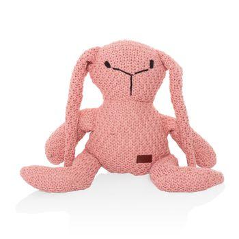 ZOPA - Pletená hračka zajac, Pink