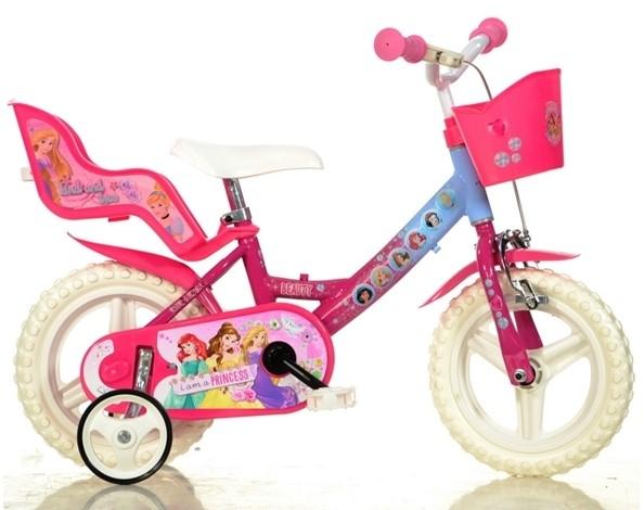 b48e1632a2538 DINO BIKES - Detský bicykel 124RLPSS Princess so sedačkou pre bábiku a  košíkom - 12