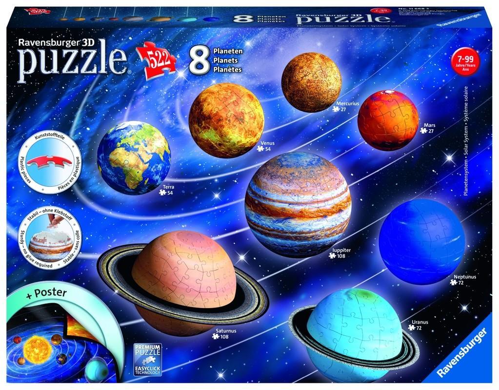 5251cfa68c42f RAVENSBURGER - Planetárna sústava  522 dielikov 3D - Market24.sk
