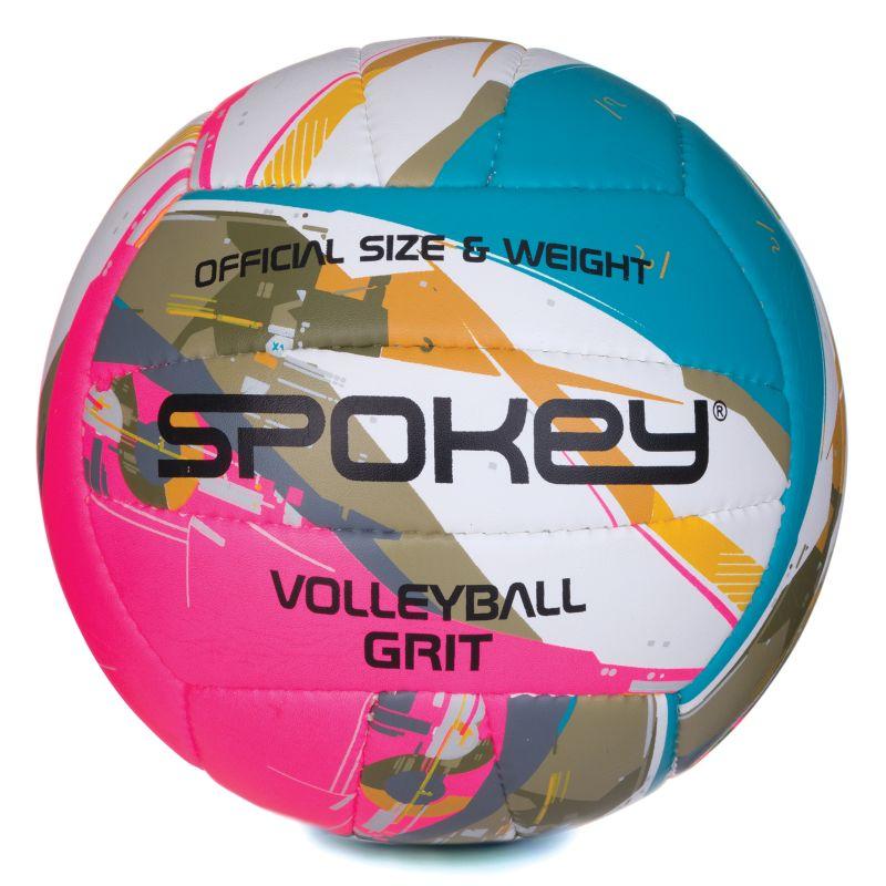SPOKEY - GRIT Volejbalová lopta zeleno-ružová č.5 - Market24.sk 95a85a3fe09
