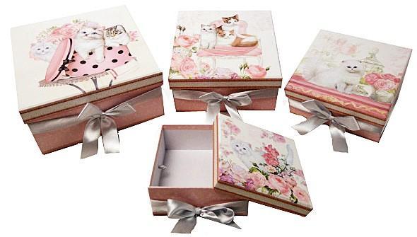 7f17301db MAKRO - Darčeková papierová krabica - 4 ks - Market24.sk