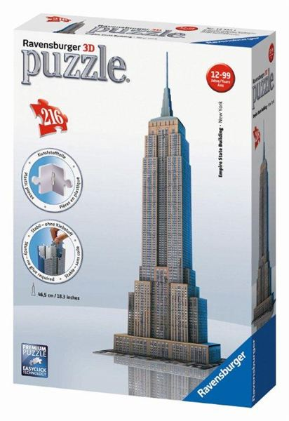 1ac95bbdab8a3 RAVENSBURGER - Puzzle Empire State Building 216 3D dielikov ...