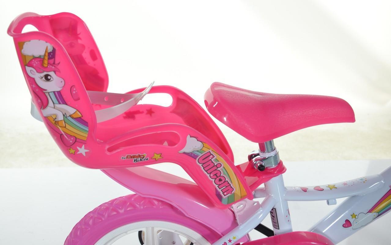 """3f6e5ca0ca6a7 DINO BIKES - Detský bicykel - 12""""124RLUN so sedačkou pre bábiku a košíkom  s"""