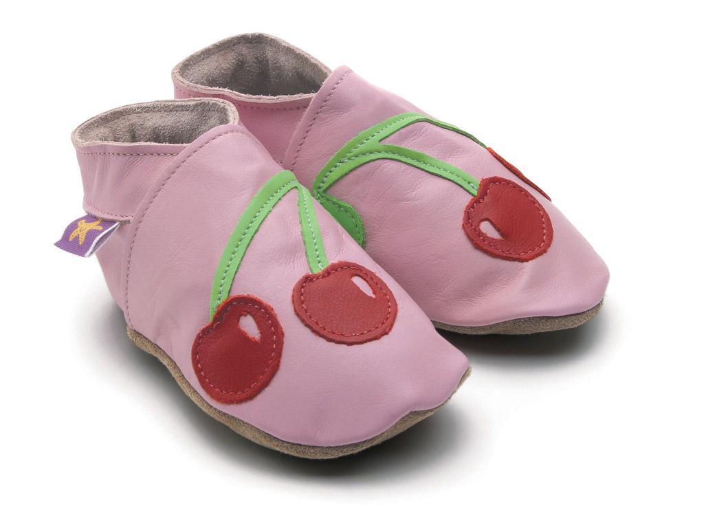 STARCHILD - Kožené topánočky - Cherrybaby Baby Pink - veľkosť L (12-18 mesiacov)