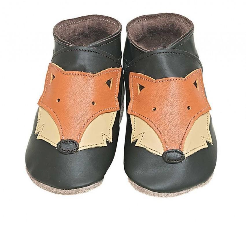 STARCHILD - Kožené topánočky - Foxy Choc - veľkosť L (12-18 mesiacov)