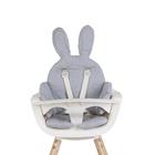 CHILDHOME - Sedacia podložka do detskej stoličky Rabbit Jersey Grey
