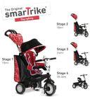 SMART TRIKE - trojkolka 810 Chic 4v1 Červeno-čierna