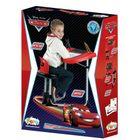 FARO - Detská kovová lavica so stoličkou a tabuľou 2v1 Cars 54817C