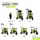 SMART TRIKE - trojkolka 500 Fold 7v1 Zelená