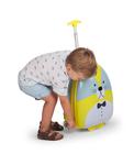 CHILDHOME - Detský pojazdný kufor Mrož Grey