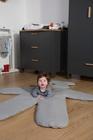 CHILDHOME - Hracia deka medveď Teddy Jersey Grey 150cm