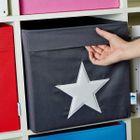 LOVE IT STORE IT - Veľký box na hračky - ružový, biela hviezda