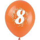 ARPEX - Balóniky nafukovacie - s číslom 8