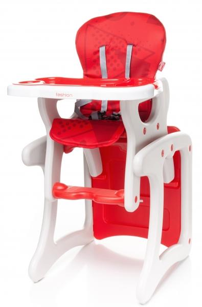 4 BABY - Jedálenský stolček Fashion - červený