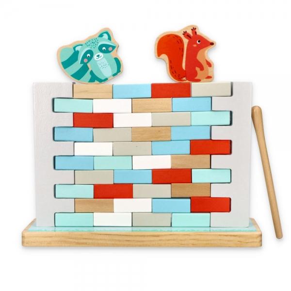 ADAM TOYS - Drevená balančné hra - Múr