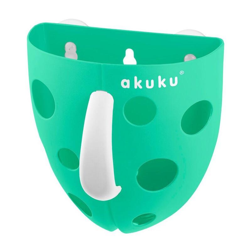 AKUKU - Plastový box na hračky do vane mätový