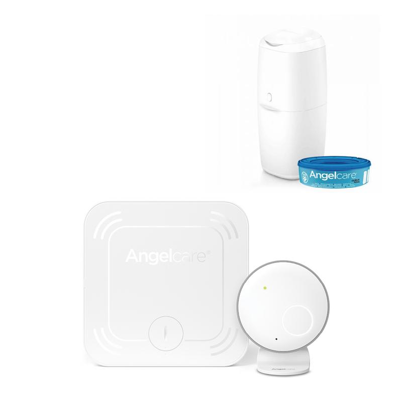ANGELCARE - AC027 Monitor pohybu dychu + kôš na plienky Classic + 1 kazeta