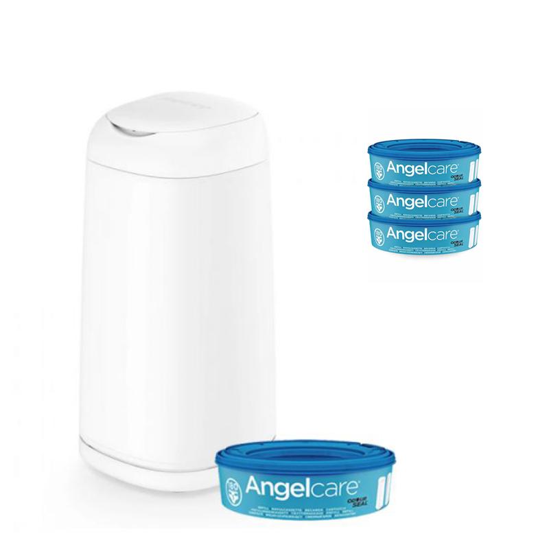ANGELCARE - Kôš na plienky Dress Up + 1 kazeta + náhradné kazety 3 ks