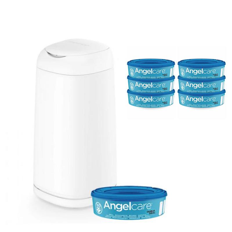 ANGELCARE - Kôš na plienky Dress Up + 1 kazeta + náhradné kazety 6 ks