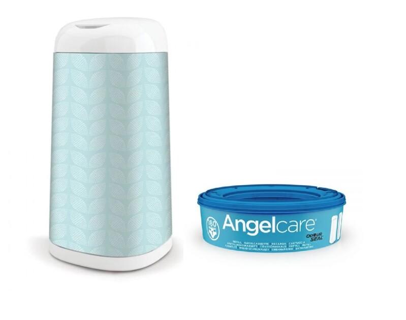 ANGELCARE - Kôš na plienky Dress Up +1 kazeta + poťah na kôš Leaf