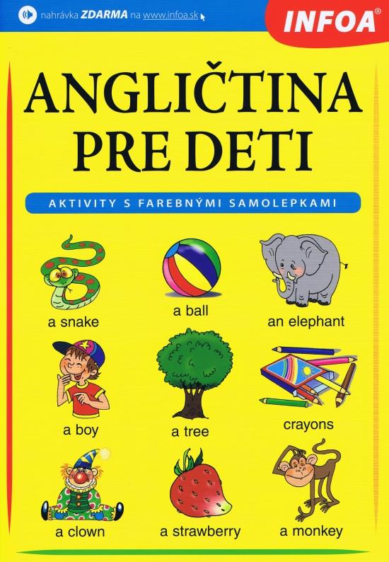 Angličtina pre deti – zošit s farebnými samolepkami