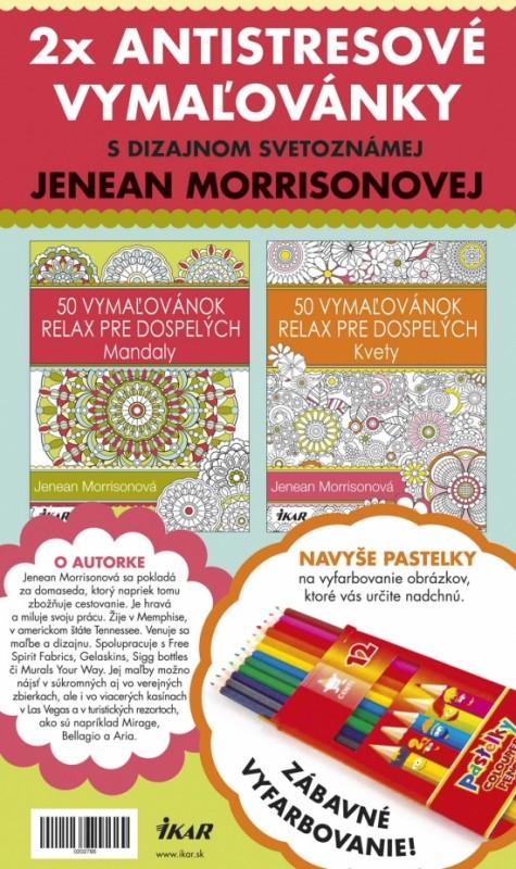 Antistresové vymaľovánky s pastelkami – set - Jenean Morrisonová