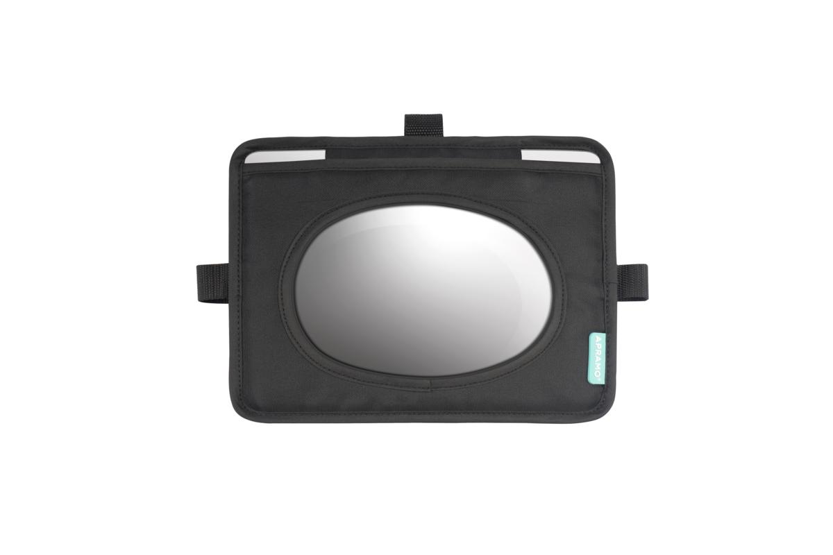 APRAMO - Spätné zrkadlo do auta 2v1 Black
