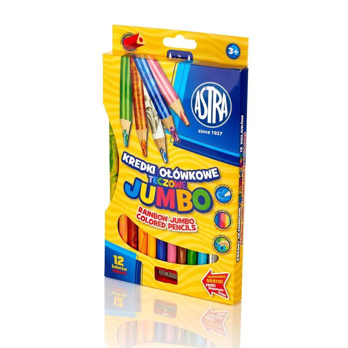 ASTRA - ASTRA Jumbo pastelky 12 ks Rainbow