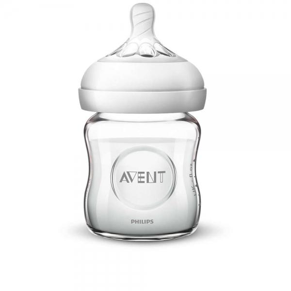 AVENT - Detská sklenená fľaša Natural, 120 ml