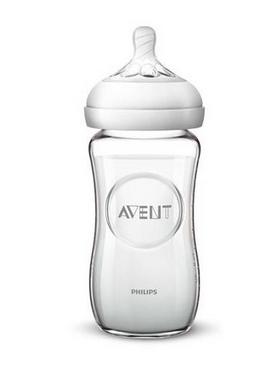 AVENT - Detská sklenená fľaša Natural, 240 ml