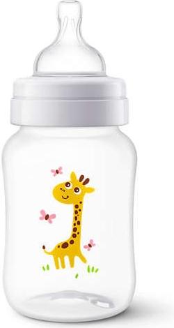 AVENT PHILIPS - antikoliková fľaštička 260ml - Žirafka