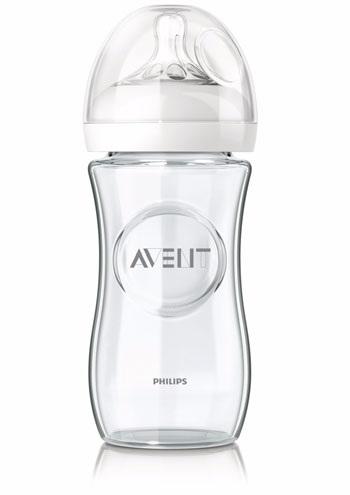 AVENT - Sklenená fľaša Natural 240 ml bez BPA - Market24.sk 1bc38a29fe2