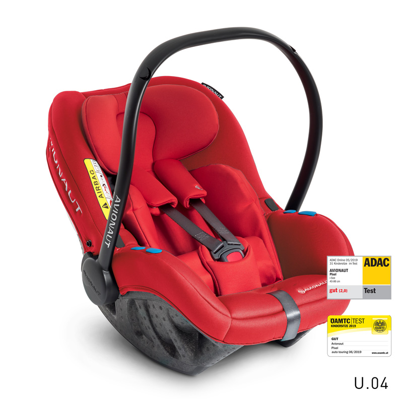 AVIONAUT - Autosedačka PIXEL (45-86cm, 0-13kg) 2020 červená