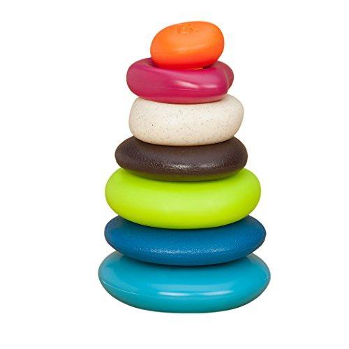 B-TOYS - Stohovacie farebné kamene na nastrkovanie