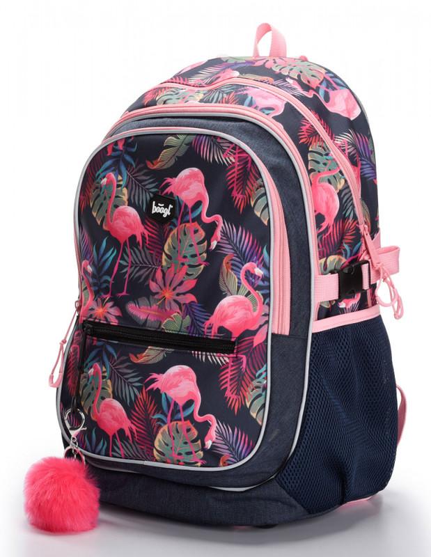 BAAGL - Školský batoh Flamingo