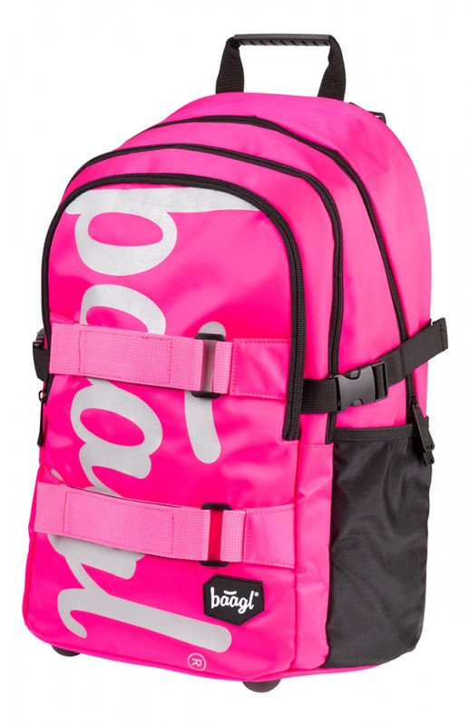 BAAGL - Školský batoh skate Pink