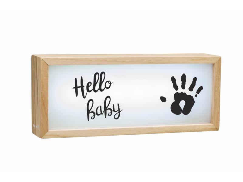 BABY ART - Drevený svetelný Light Box with imprint