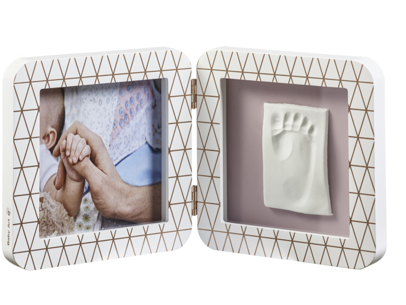 BABY ART - Rámček My Baby Touch Simple Copper Edition White