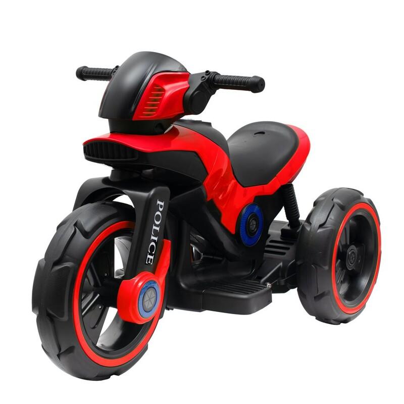 BABY MIX - Detská elektrická motorka POLICE červená