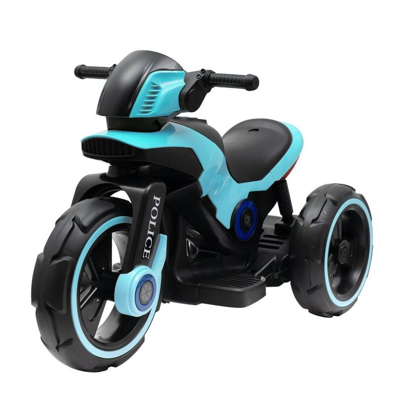 BABY MIX - Detská elektrická motorka POLICE modrá