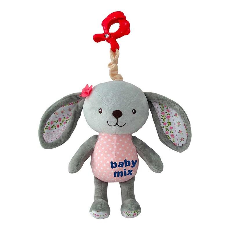 BABY MIX - Detská plyšová hračka s hracím strojčekom Králik