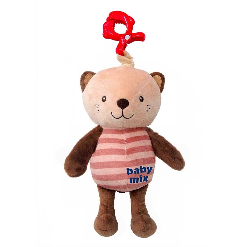 BABY MIX - Detská plyšová hračka s hracím strojčekom Mačka