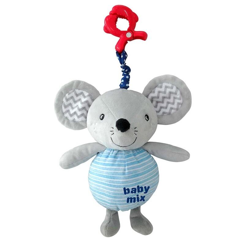 BABY MIX - Detská plyšová hračka s hracím strojčekom Myška