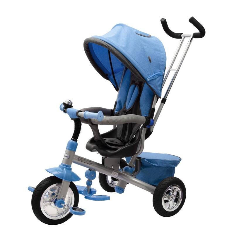 BABY MIX - Detská trojkolka3v1 TYPHOON 360° modrá