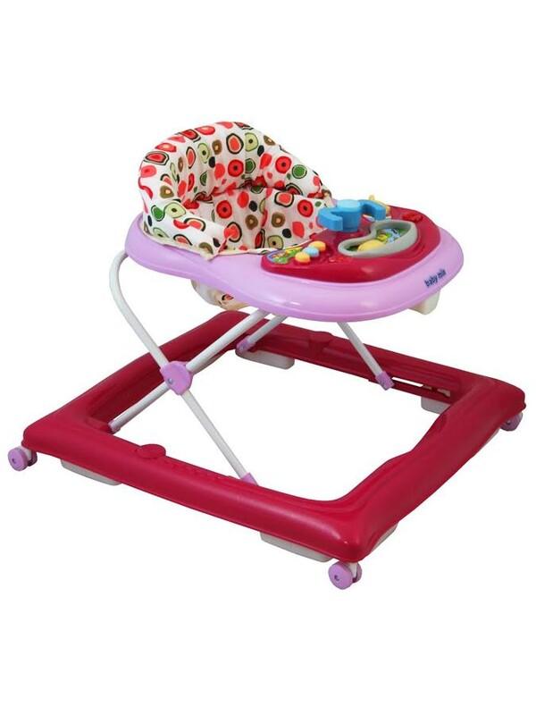 BABY MIX - Detské chodítko pink