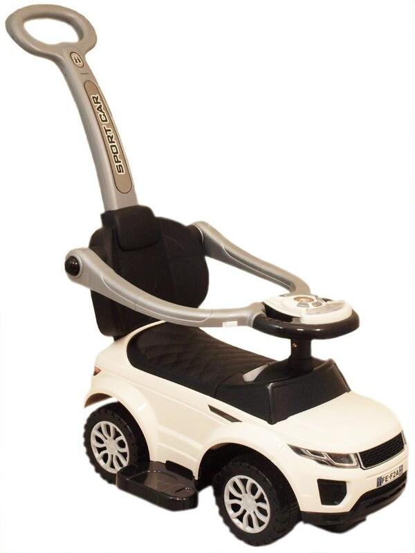 BABY MIX - Detské hrajúce vozítko 3v1 biele